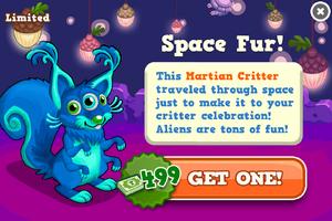 Martian critter modal