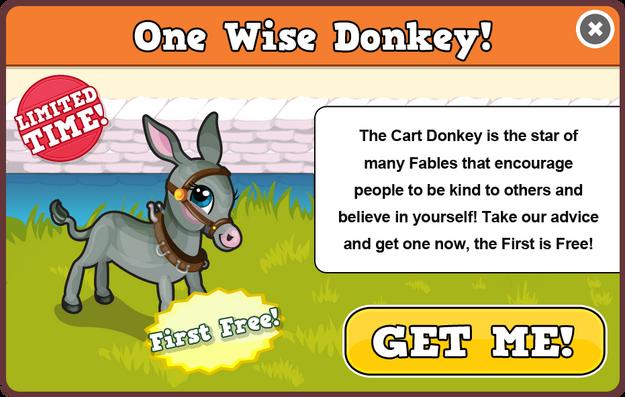 Cart donkey modal
