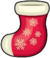 Christmas hamster sock