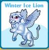 Winter ice lion card