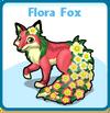 Flora fox card
