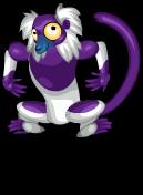 Black & white ruffed lemur an