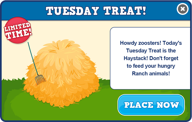Ranch tuesday treat modal