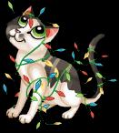 Christmas lights cat static