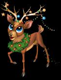 Ornament reindeer static