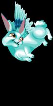 Winter snow hare an
