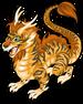 Ancient tiger dragon single
