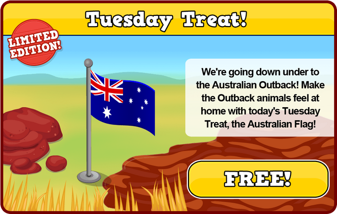 Outback tuesday treat modal