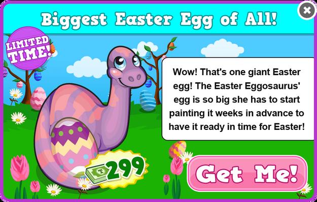 Easter eggosaurus modal