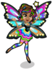 Rainbow glow fairy single