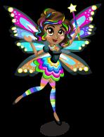 Rainbow glow fairy single