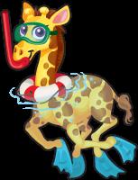 Snorkel giraffe single