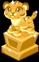 Tiger baby trophy