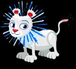 Fireworks lion static