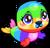 Cubby seal rainbow single
