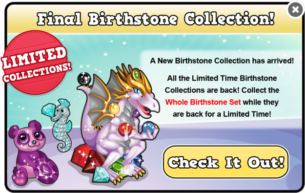 Final birthstone collection modal