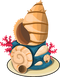 Sea shell statue