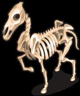 Skeleton mustang single