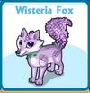 Wisteria fox card