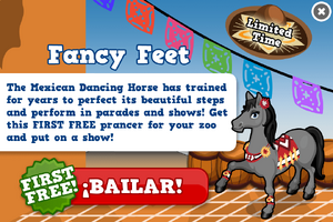 Mexican dancing horse modal