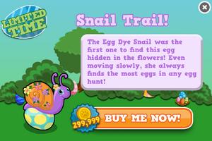 Egg dye snail modal