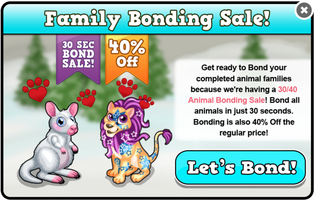 Party bonding sale modal