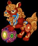 Temple lion static
