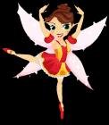 Ballerina fairy static