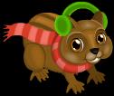 Christmas chipmunk static