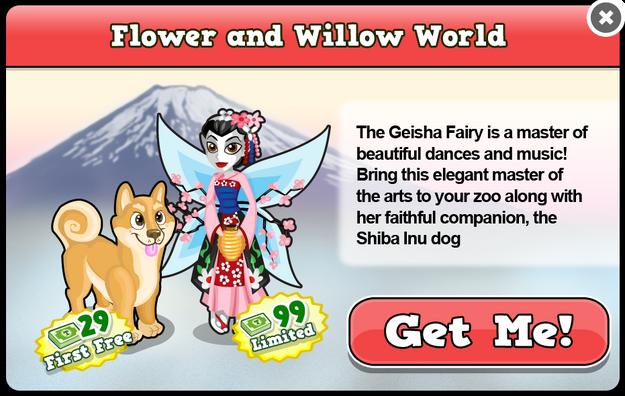 Geisha fairy modal