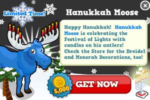 Hanukkah moose modal