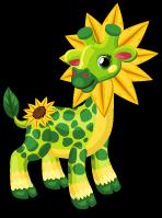 Sunflower giraffe single