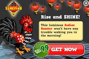 Zodiac rooster modal