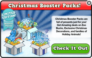 Christmas booster packs modal