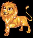 Gold lion static