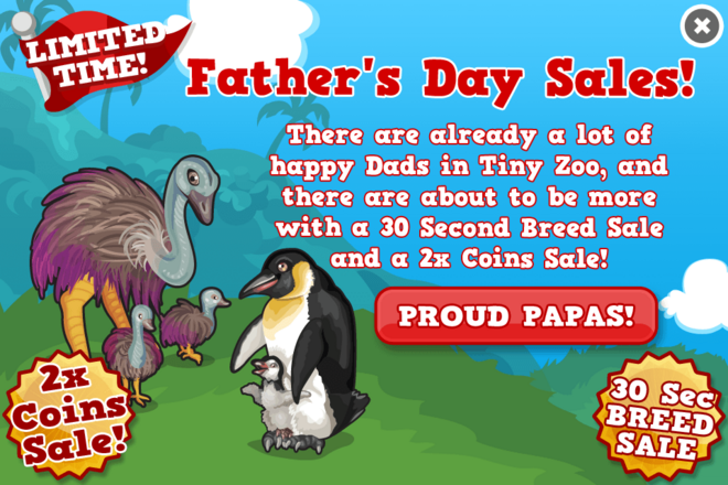 Fathers day sales modal
