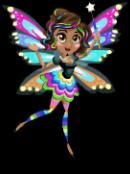 Rainbow glow fairy static