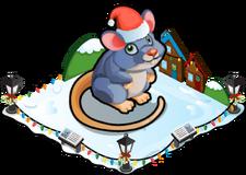 Christmas village mouse single