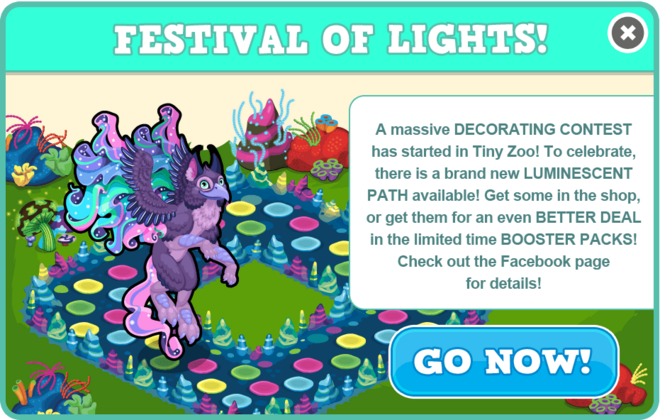 Glow decorating contest modal