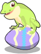 Springtime frog static