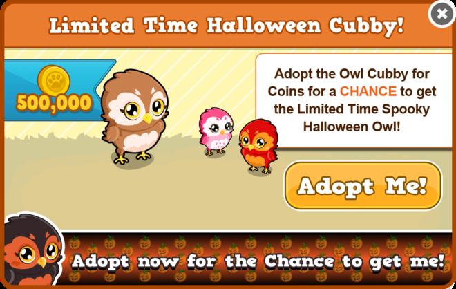 Cubby owl modal