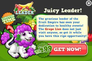 Grape lion modal