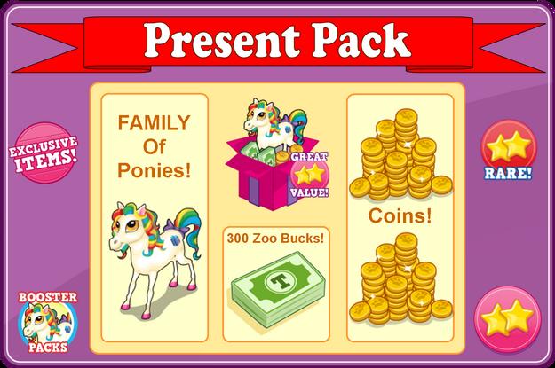 Present pack modal