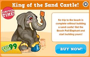 Beach pail elephant modal
