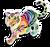 Goal rainbow glow tiger icon