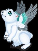 Winter polar bear single