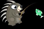 Fishing porcupine static