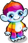 Cubby monkey rainbow single