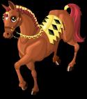 German knight horse static