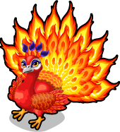 Fire peacock single